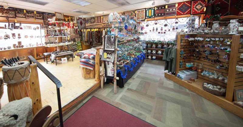 Interior view of Goulding's Gift Shop