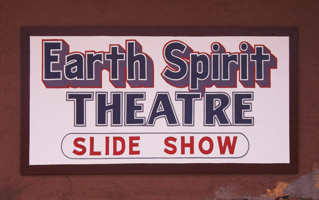 Earth Spirit Theatre sign