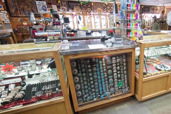 Goulding's Gift Shop jewelry counter