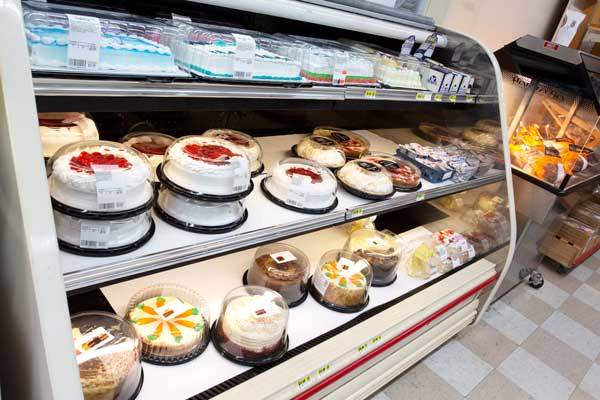 Goulding's Grocery store refrigerated cakes