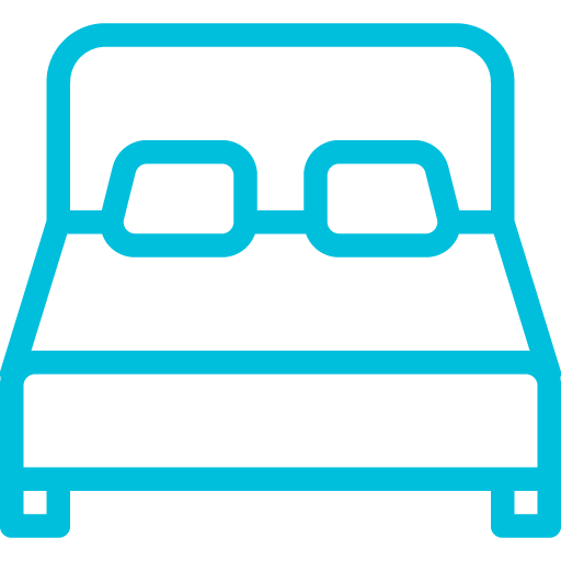 Bed icon in blue
