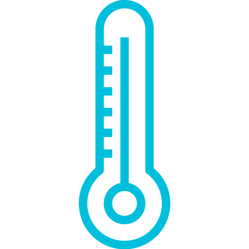 Thermometer icon in blue
