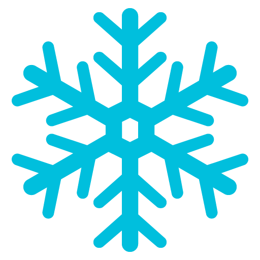 Snowflake icon in blue