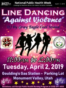 Goulding's Line Dancing Against Violence flyer